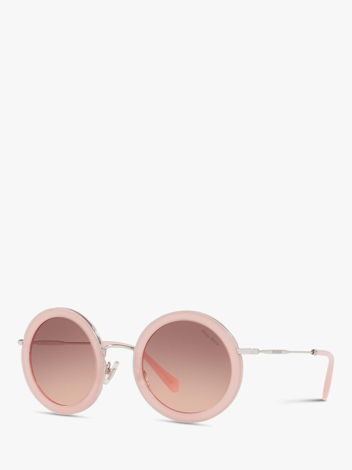 abb313f73b04 Buy Miu Miu MU 59US Women's Round Sunglasses, Opal Pink/Pink Gradient  Online at ...
