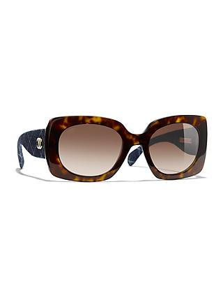 bbbd7a181ae Rectangular Sunglasses CH5406 Dark Havana Brown Gradient
