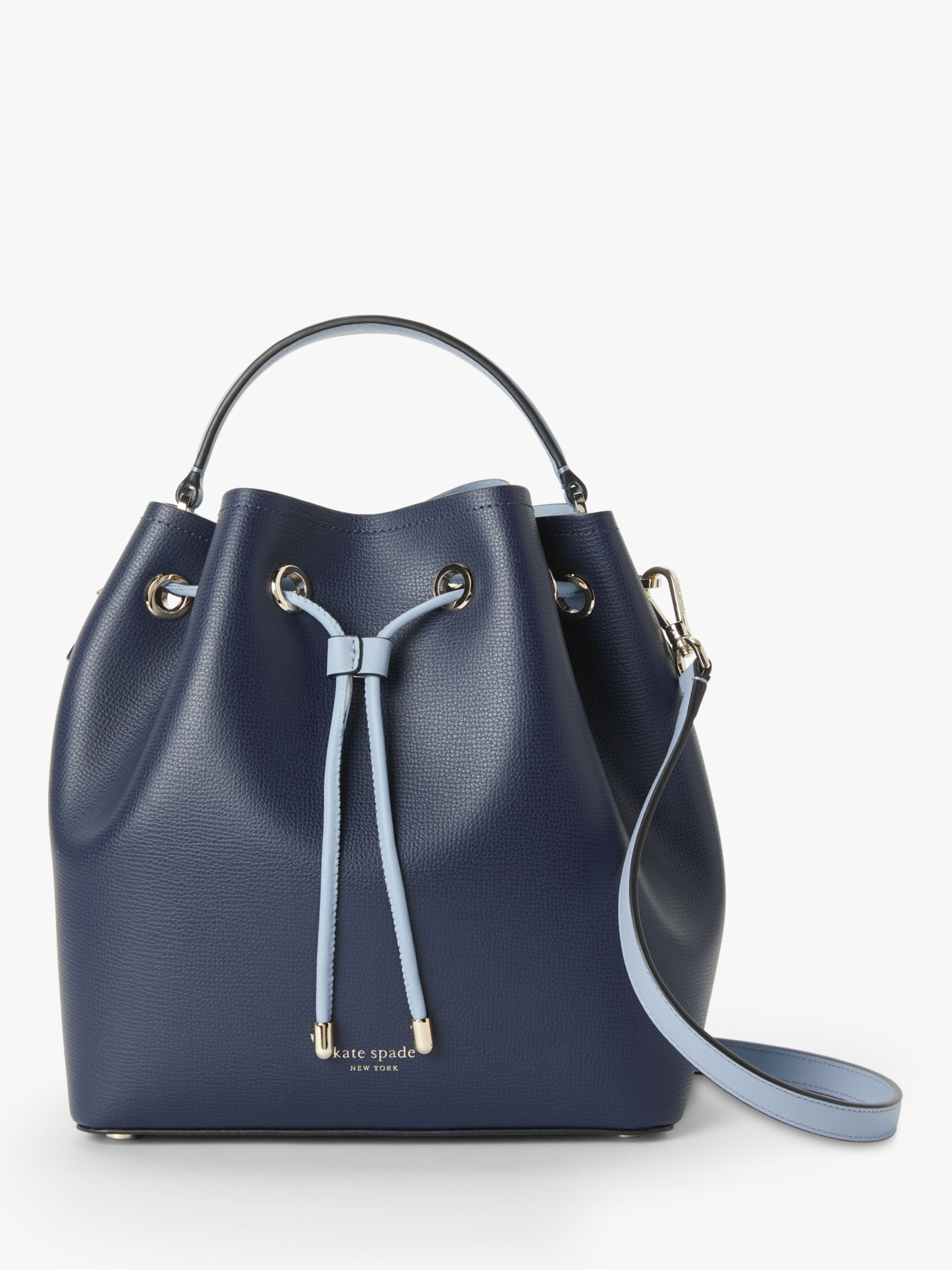 97245f95100a kate spade new york Vivian Leather Medium Bucket Bag at John Lewis &  Partners