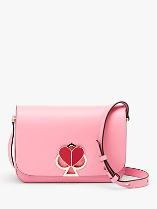 kate spade new york Nicola Leather Twistlock Flap Over Medium Shoulder Bag,  Rococo Pink 9c9e5bed68
