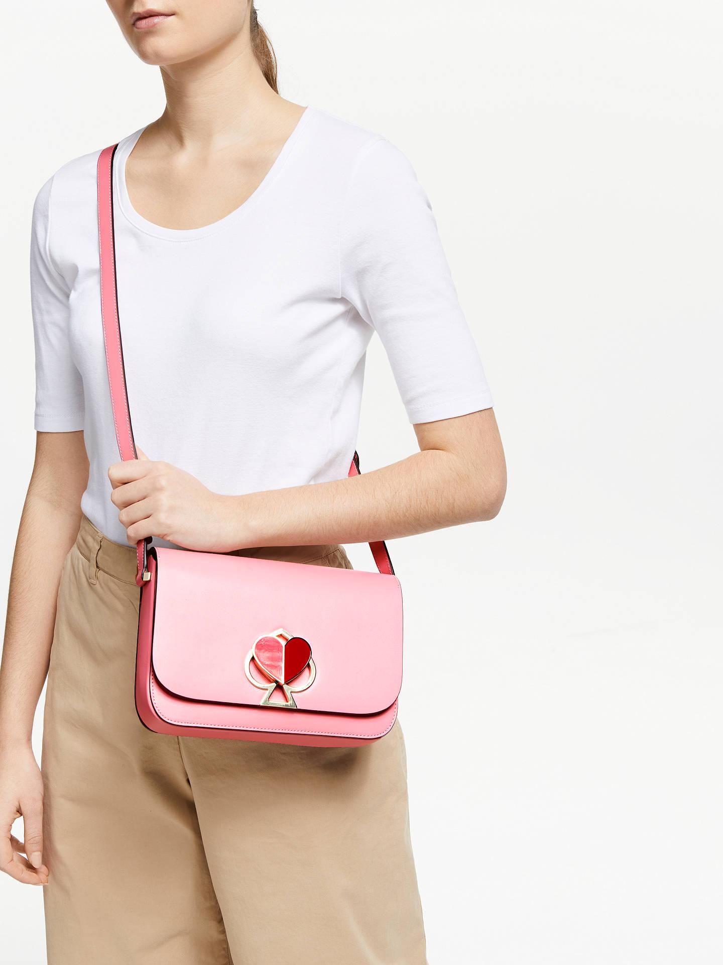e9c61dbaf59661 ... Buy kate spade new york Nicola Leather Twistlock Flap Over Medium Shoulder  Bag, Rococo Pink ...