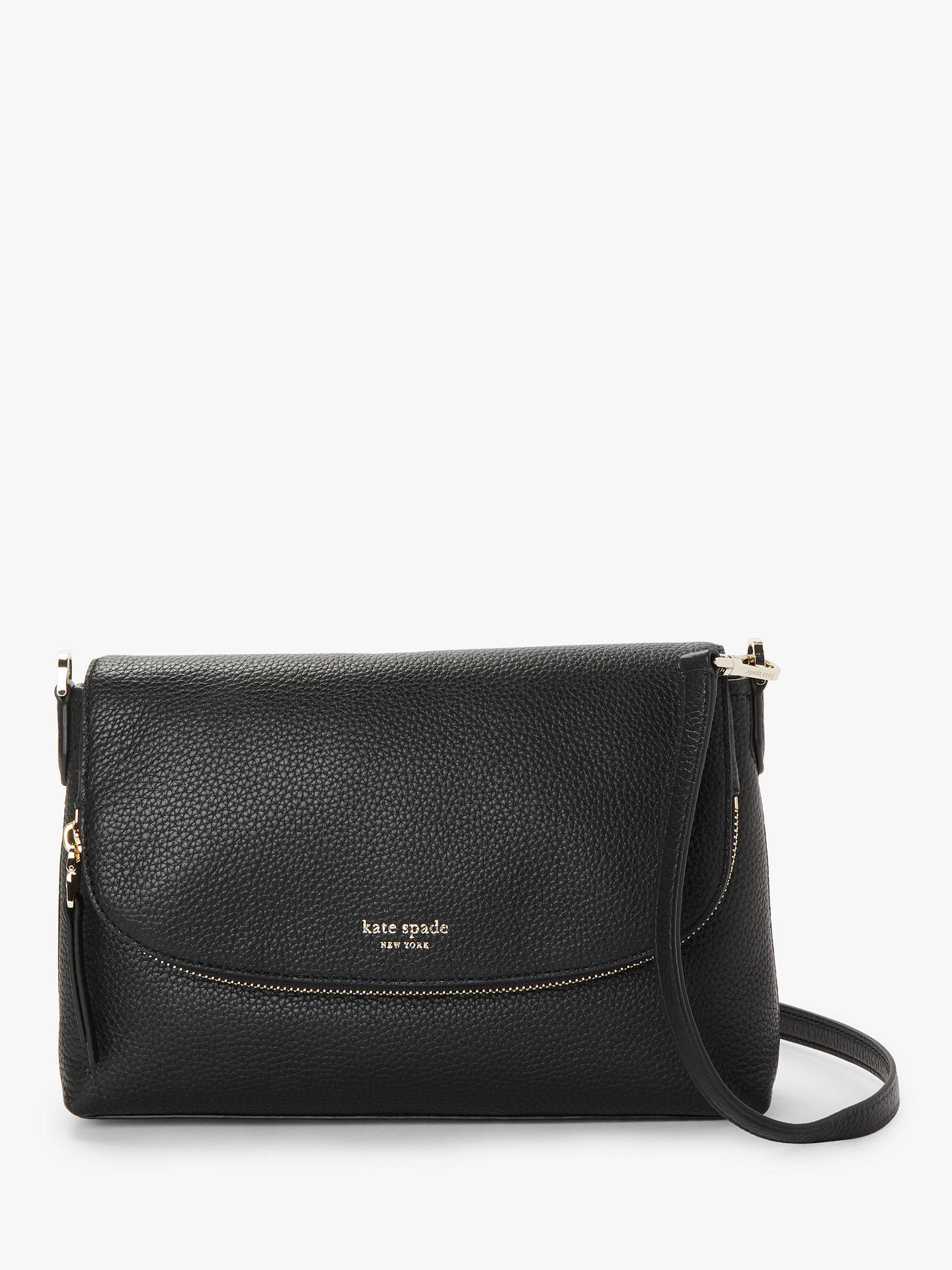 Kate Spade New York Polly Leather Large Flap Over Cross Body Bag At