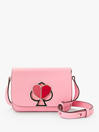 kate spade new york Nicola Leather Twistlock Flap Over Small Shoulder Bag,  Rococo Pink ec5e605db8