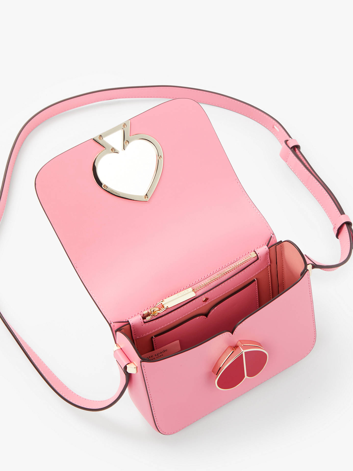 0c2495f9378057 ... Buy kate spade new york Nicola Leather Twistlock Flap Over Small  Shoulder Bag, Rococo Pink ...