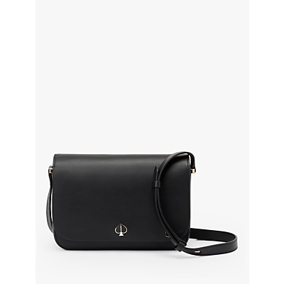 kate spade new york Nicola Leather Small Flap Over Shoulder Bag, Black