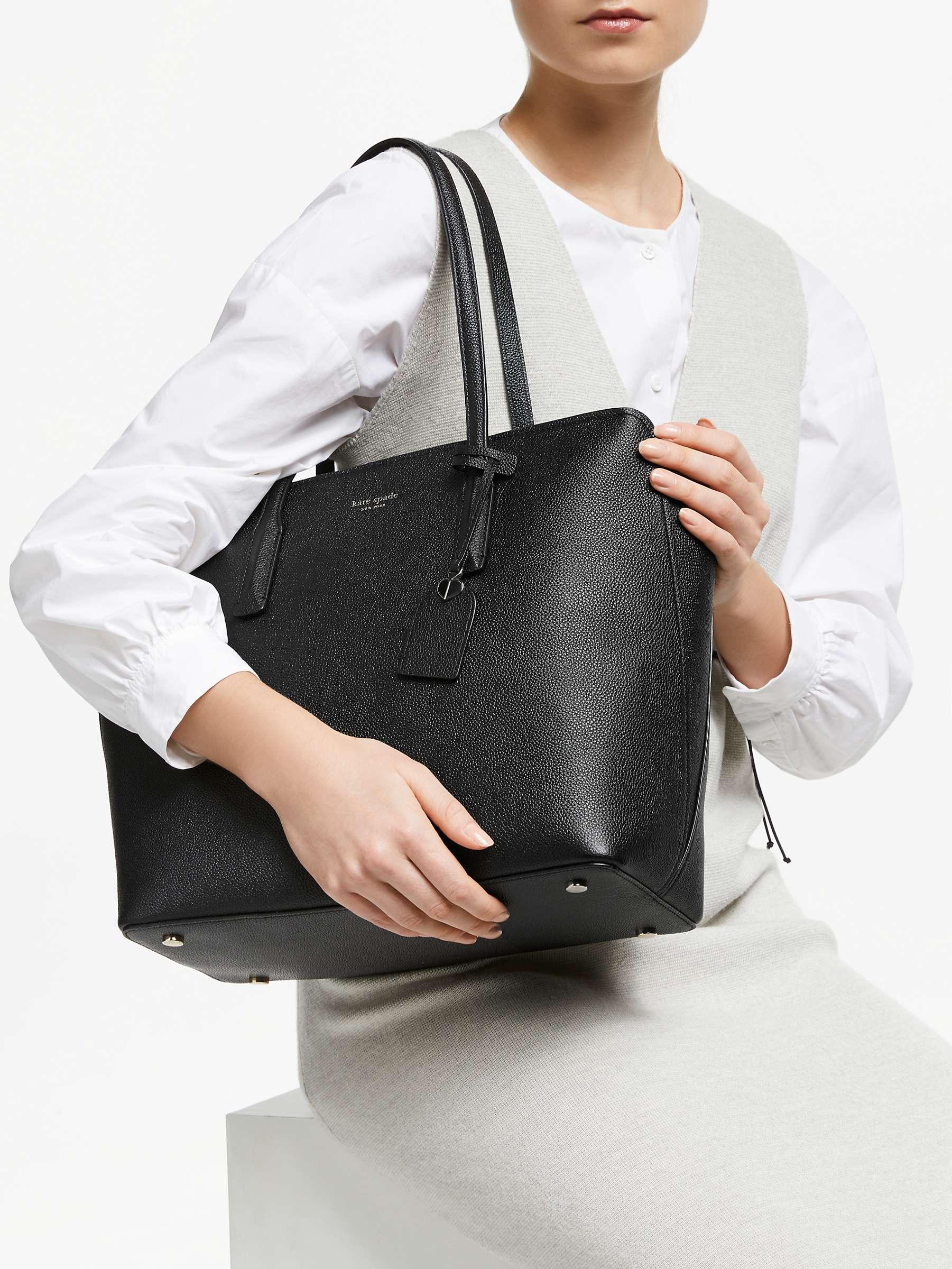 Kate Spade New York Margaux Large Leather Tote Bag Black