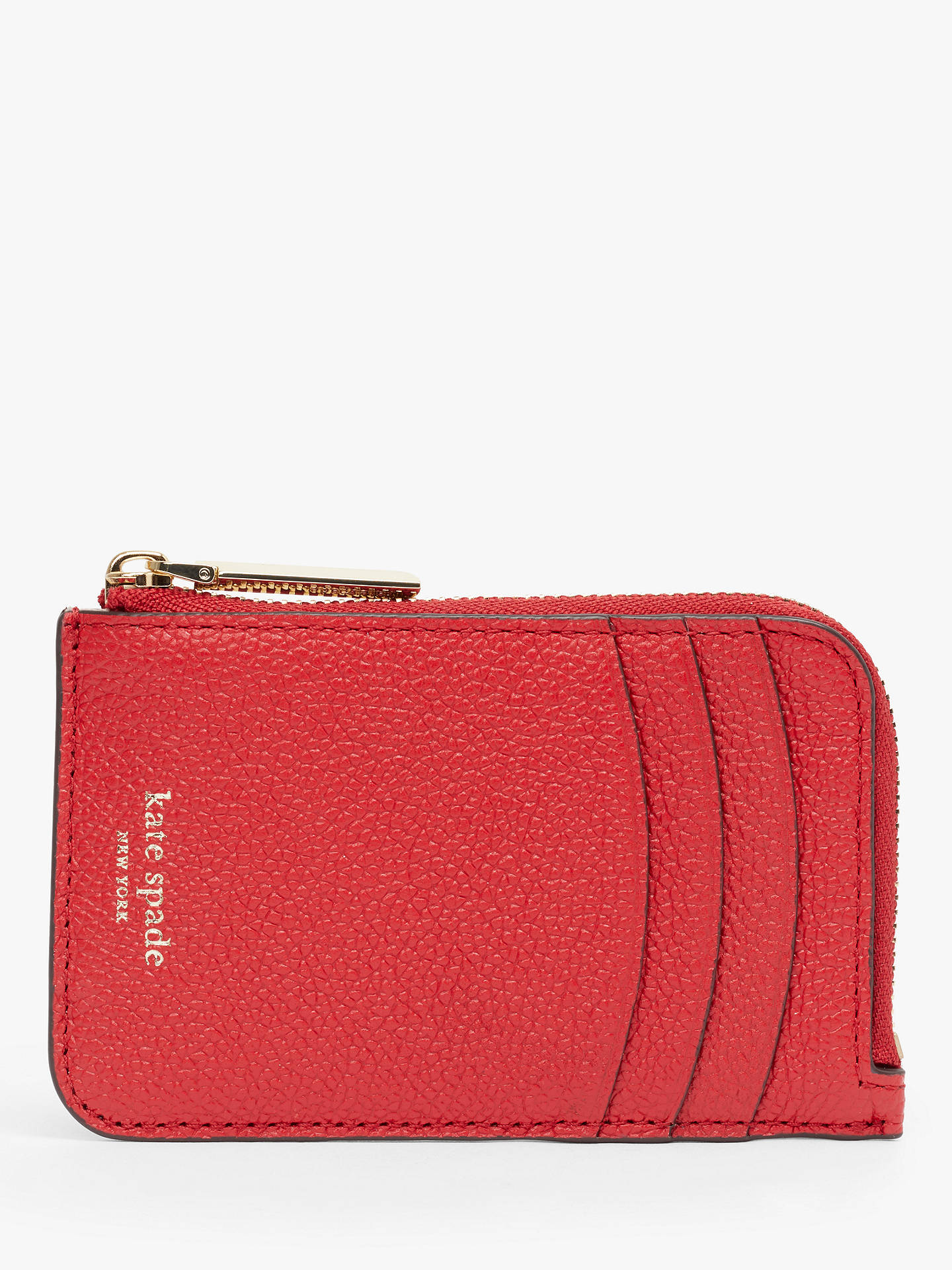 f6d221e514e Buy kate spade new york Margaux Leather Zip Card Holder, Hot Chilli Online  at johnlewis ...