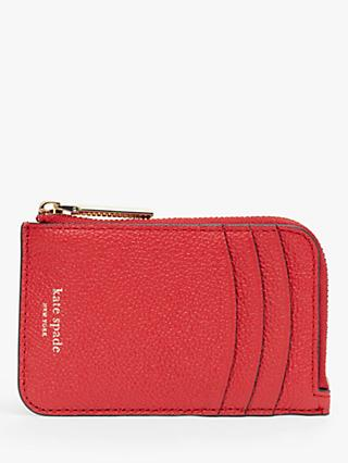 kate spade new york Margaux Leather Zip Card Holder, Hot Chilli eddeff5850