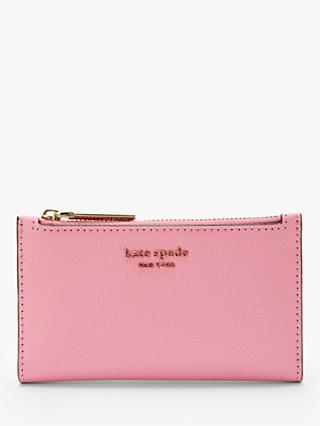 cc6626069a kate spade new york Coated Leather Small Bi-Fold Purse, Rococo Pink