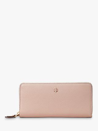 kate spade new york Polly Leather Slim Continental Purse, Flapper Pink