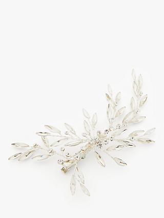 Ivory & Co. Starburst Crystals Hair Clip, Silver/Clear