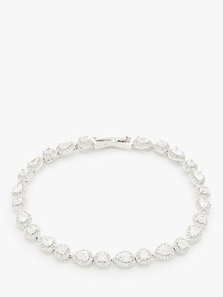 Ivory & Co. Crystal Tennis Bracelet, Silver
