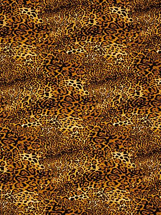 Oddies Textiles Leopard Print Fabric, Brown