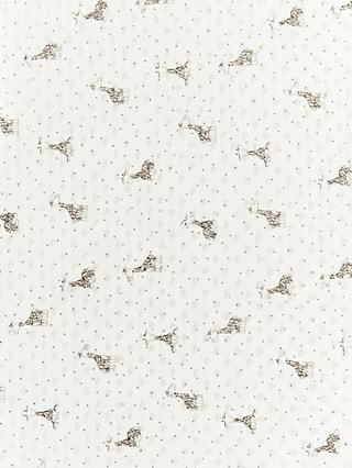 Oddies Textiles Giraffe Print Fleece Fabric, White