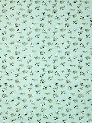 Oddies Textiles Geese and Rushes Print Fabric, Green