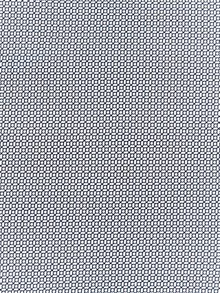 Oddies Textiles Link Pattern Print Fabric, Cream/Grey