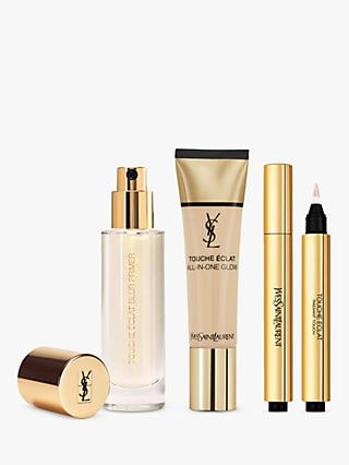 Yves Saint Laurent Touche Éclat Foundation B20 Ivory, Highlighter 1 and Primer with Gift (Bundle)