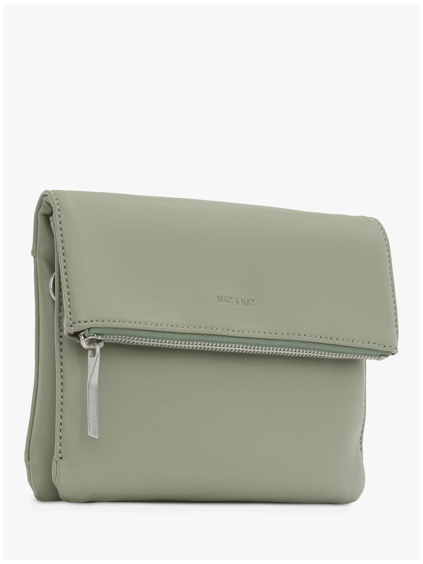 1bd9bca13d7850 ... Buy Matt & Nat Loom Collection Hiley Vegan Cross Body Bag, Pine Online  at johnlewis