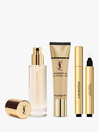 Yves Saint Laurent Touche Éclat Foundation B30 Almond, Highlighter 2 and Primer with Gift (Bundle)