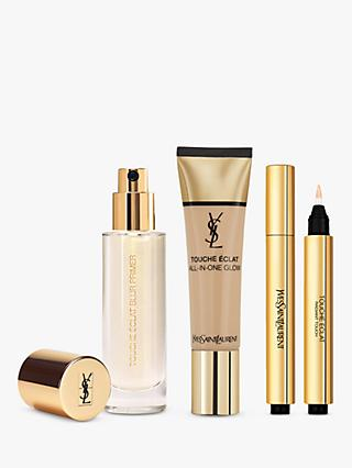 Yves Saint Laurent Touche Éclat Foundation B50 Honey, Highlighter 2.5 and Primer with Gift (Bundle)