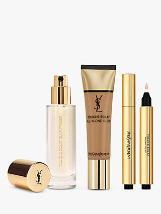 Yves Saint Laurent Touche Éclat Foundation B70 Mocha, Highlighter 5 and Primer with Gift (Bundle)