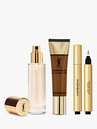 Yves Saint Laurent Touche Éclat Foundation B90 Ebony, Highlighter 7 and Primer with Gift (Bundle)