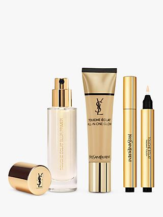 Yves Saint Laurent Touche Éclat Foundation BD40 Warm Sand, Highlighter 2.5 and Primer with Gift (Bundle)