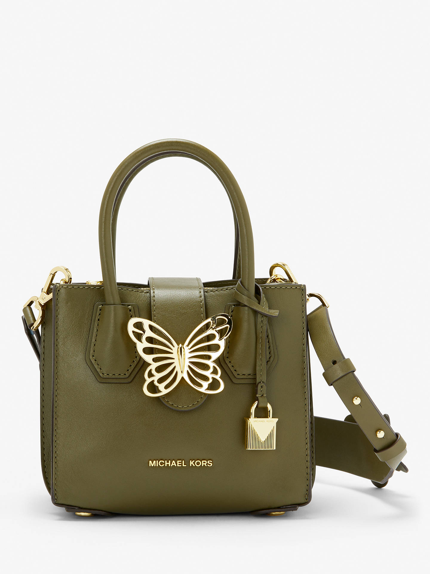 881b4a189c4 MICHAEL Michael Kors Mercer Mini Accordion Butterfly Leather Grab Bag, Olive