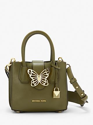 MICHAEL Michael Kors Mercer Mini Accordion Butterfly Leather Grab Bag