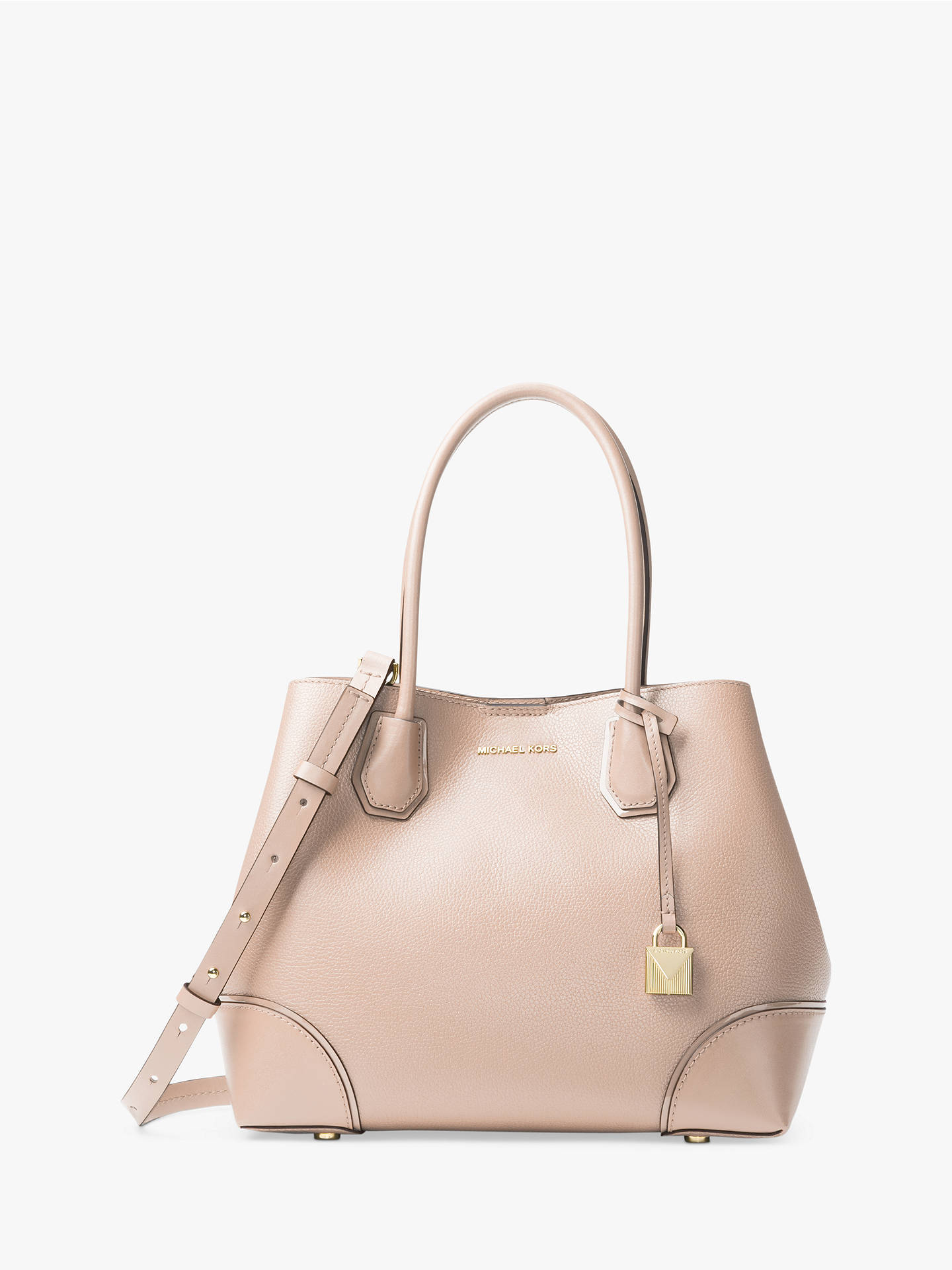 4e7b5218d557 Buy MICHAEL Michael Kors Mercer Gallery Medium Leather Tote Bag, Soft Pink  Online at johnlewis ...