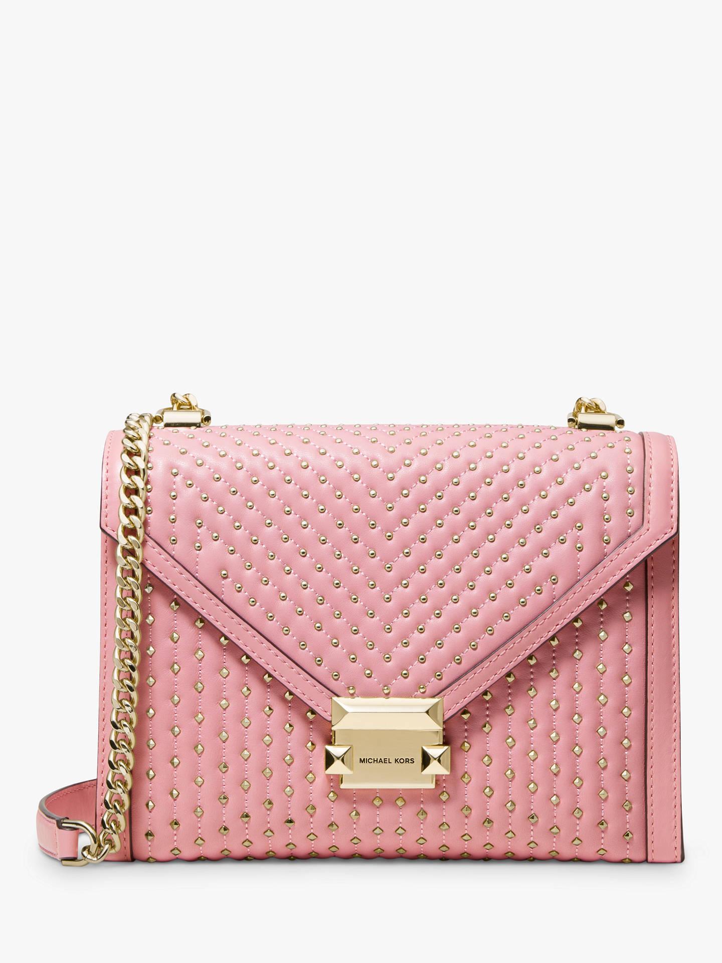 d018c3a9bd38 Buy MICHAEL Michael Kors Whitney Leather Large Embellished Shoulder Bag,  Carnation Online at johnlewis.
