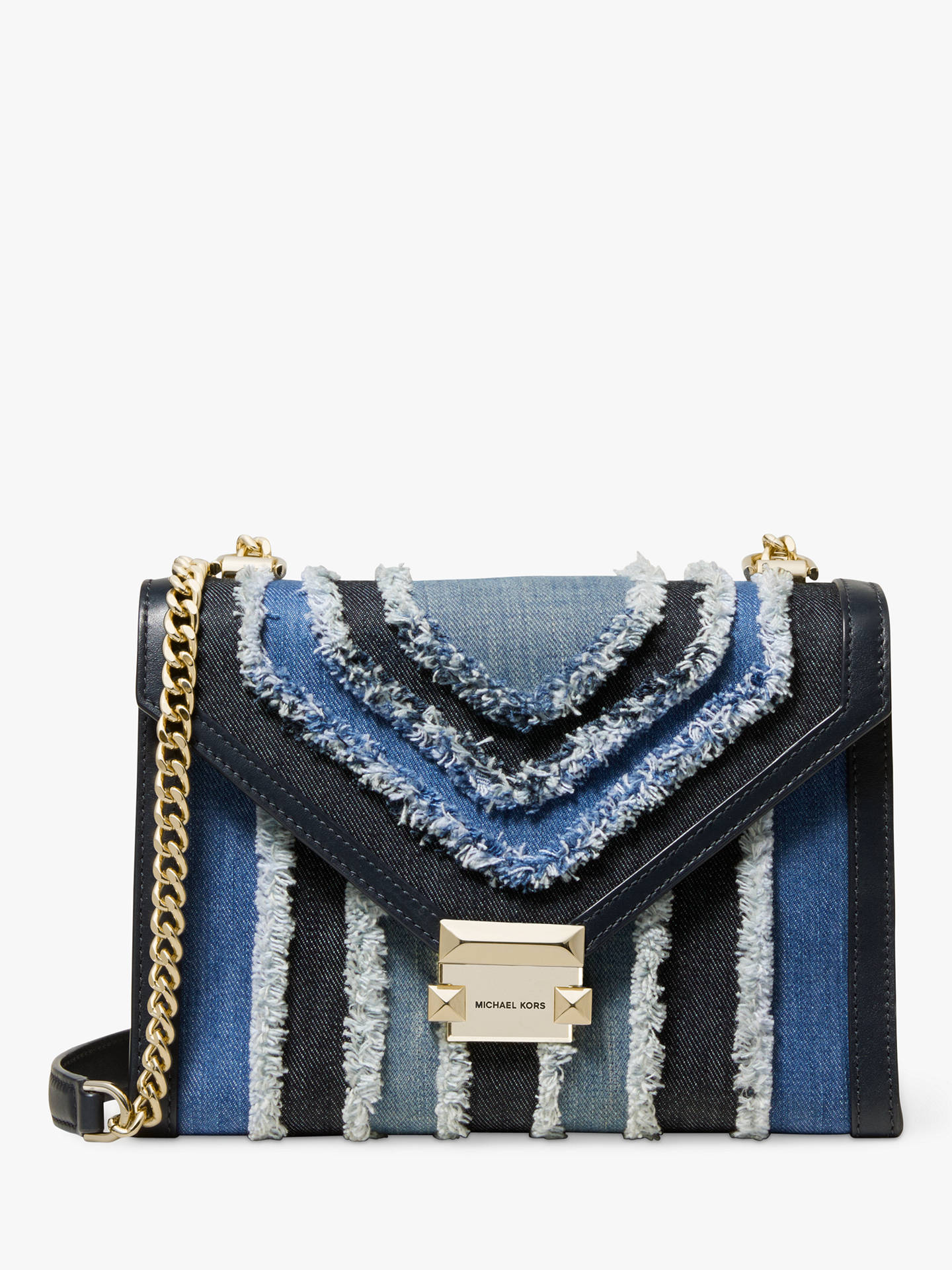 1ff86860c74ad5 Buy MICHAEL Michael Kors Whitney Large Chain Strap Shoulder Bag, Denim  Multi Texture Online at ...