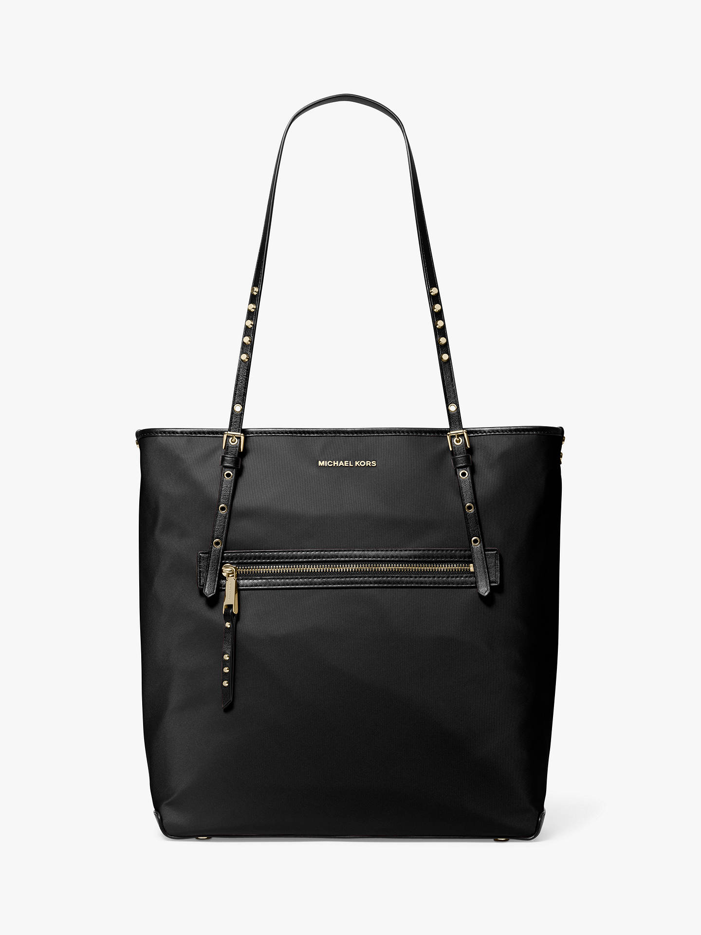 ec957874375adb Buy MICHAEL Michael Kors Leila Large Tote Bag, Black Online at  johnlewis.com ...