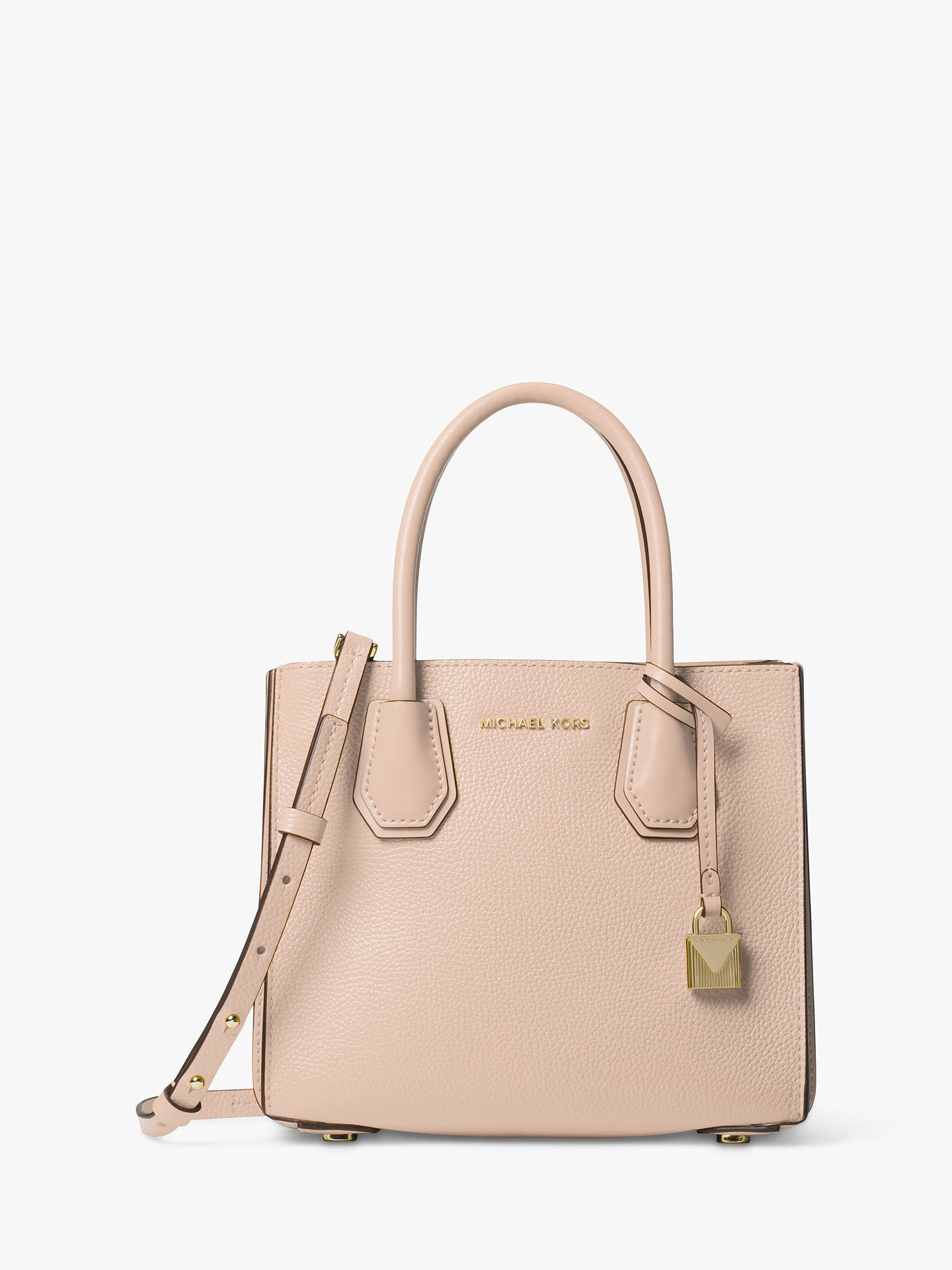 8022ce7540fa25 Buy MICHAEL Michael Kors Mercer Accordion Medium Leather Tote Bag, Soft  Pink Online at johnlewis ...