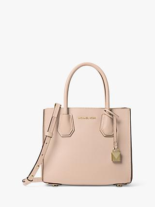 f913a1a01e3b MICHAEL Michael Kors Mercer Accordion Medium Leather Tote Bag, Soft Pink