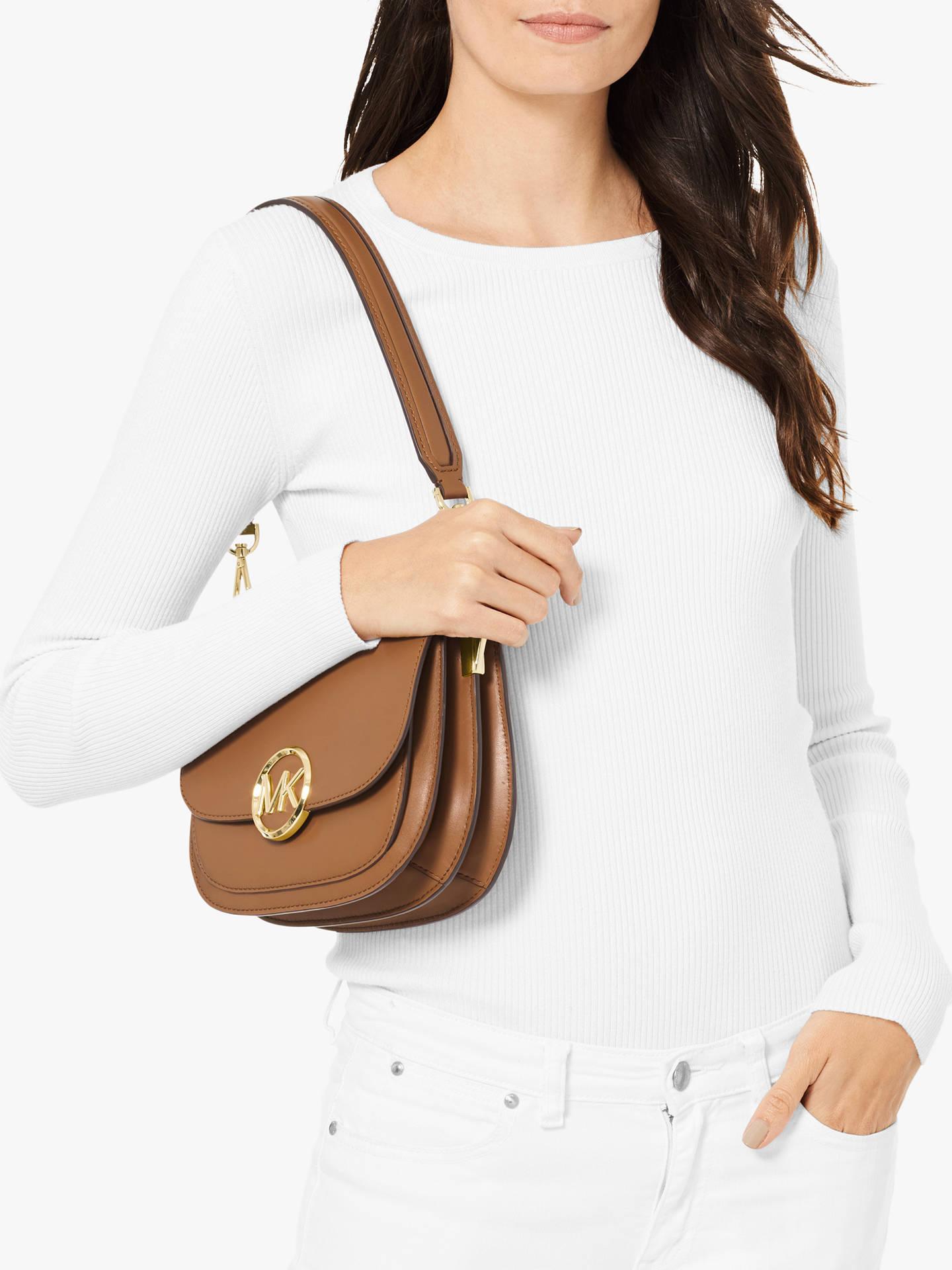 24c02cf09376 MICHAEL Michael Kors Lillie Medium Saddle Leather Messenger Bag ...