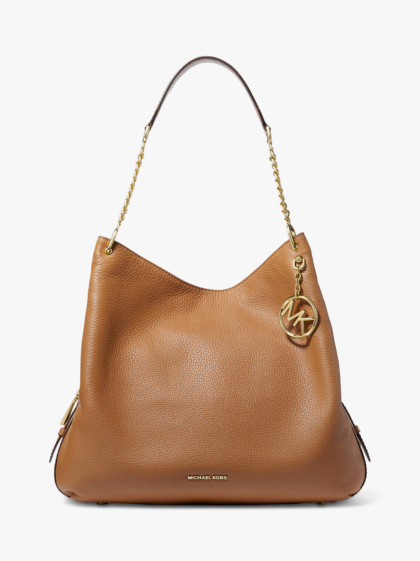 9ab1b8d2916ce8 Buy MICHAEL Michael Kors Lillie Large Leather Shoulder Bag, Acorn Online at  johnlewis.com ...