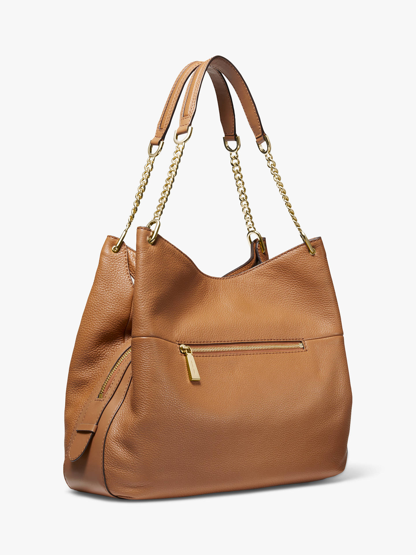 84bfdbb8f35f ... Buy MICHAEL Michael Kors Lillie Large Leather Shoulder Bag, Acorn  Online at johnlewis.com ...
