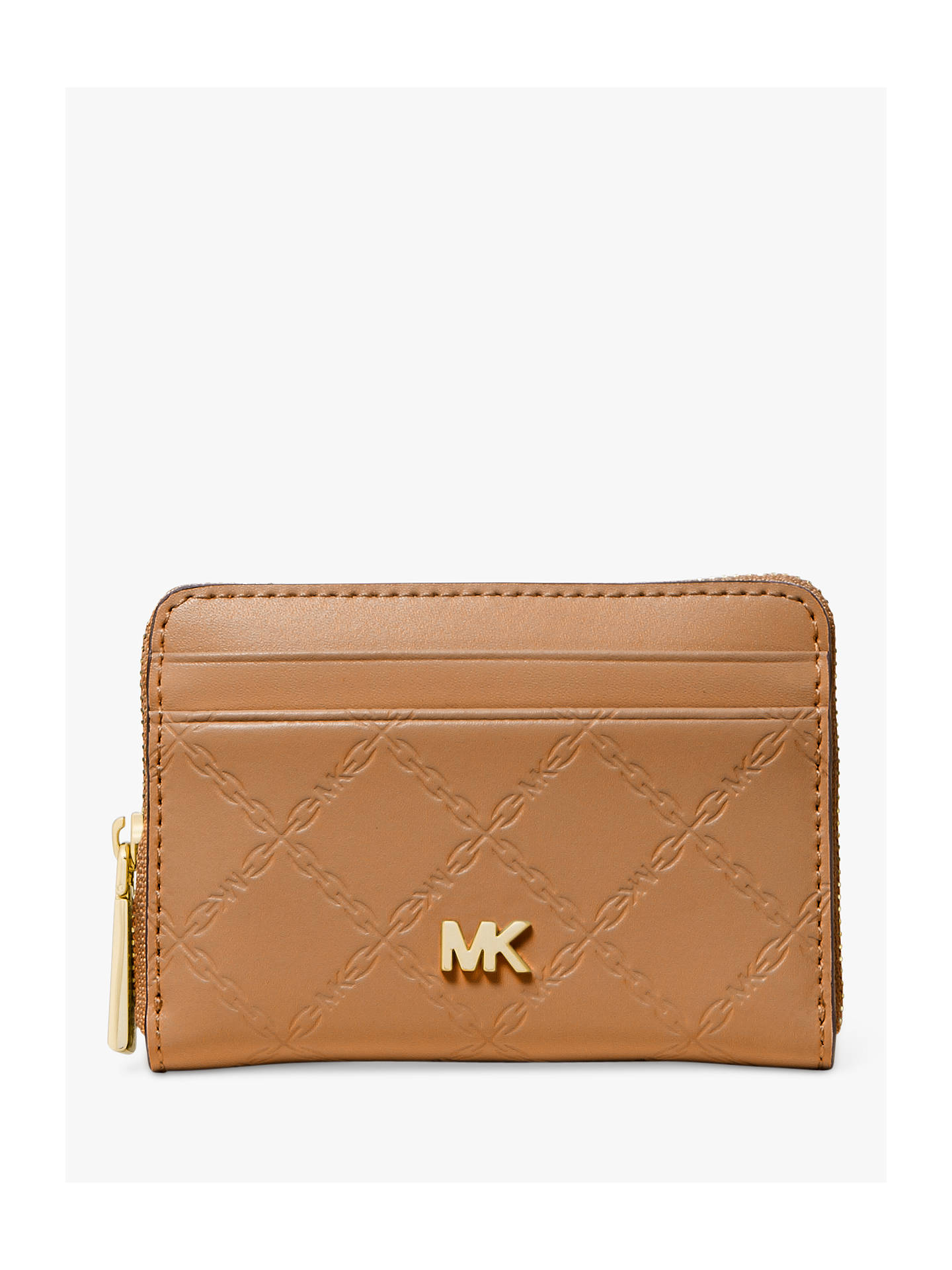 3a4c2becf88c Buy MICHAEL Michael Kors Money Pieces Leather Card and Coin Zip Purse, Acorn  Online at ...
