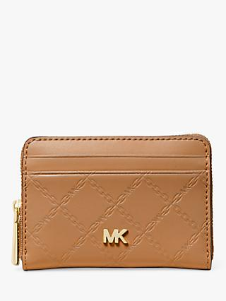 a24b7eac84a62e MICHAEL Michael Kors Money Pieces Leather Card and Coin Zip Purse, Acorn