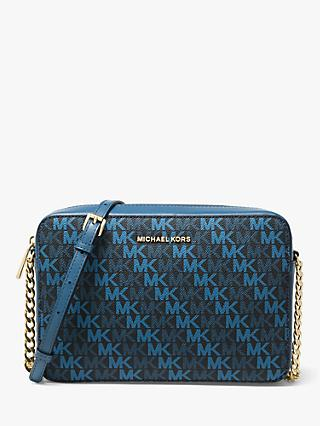 969ace5ea6db88 MICHAEL Michael Kors Crossbodies Logo Print East / West Cross Body Bag,  Admiral
