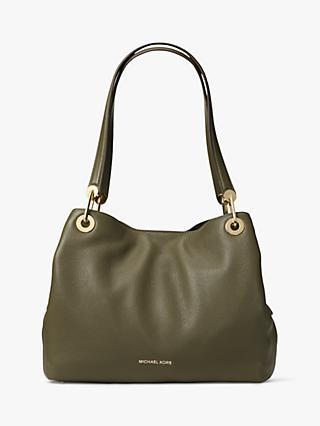 b5a62f811 MICHAEL Michael Kors Raven Large Leather Shoulder Bag, Olive