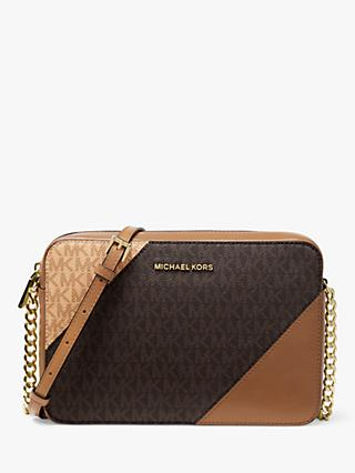 6025a1bda3f3ac MICHAEL Michael Kors Crossbodies Leather East / West Cross Body Bag