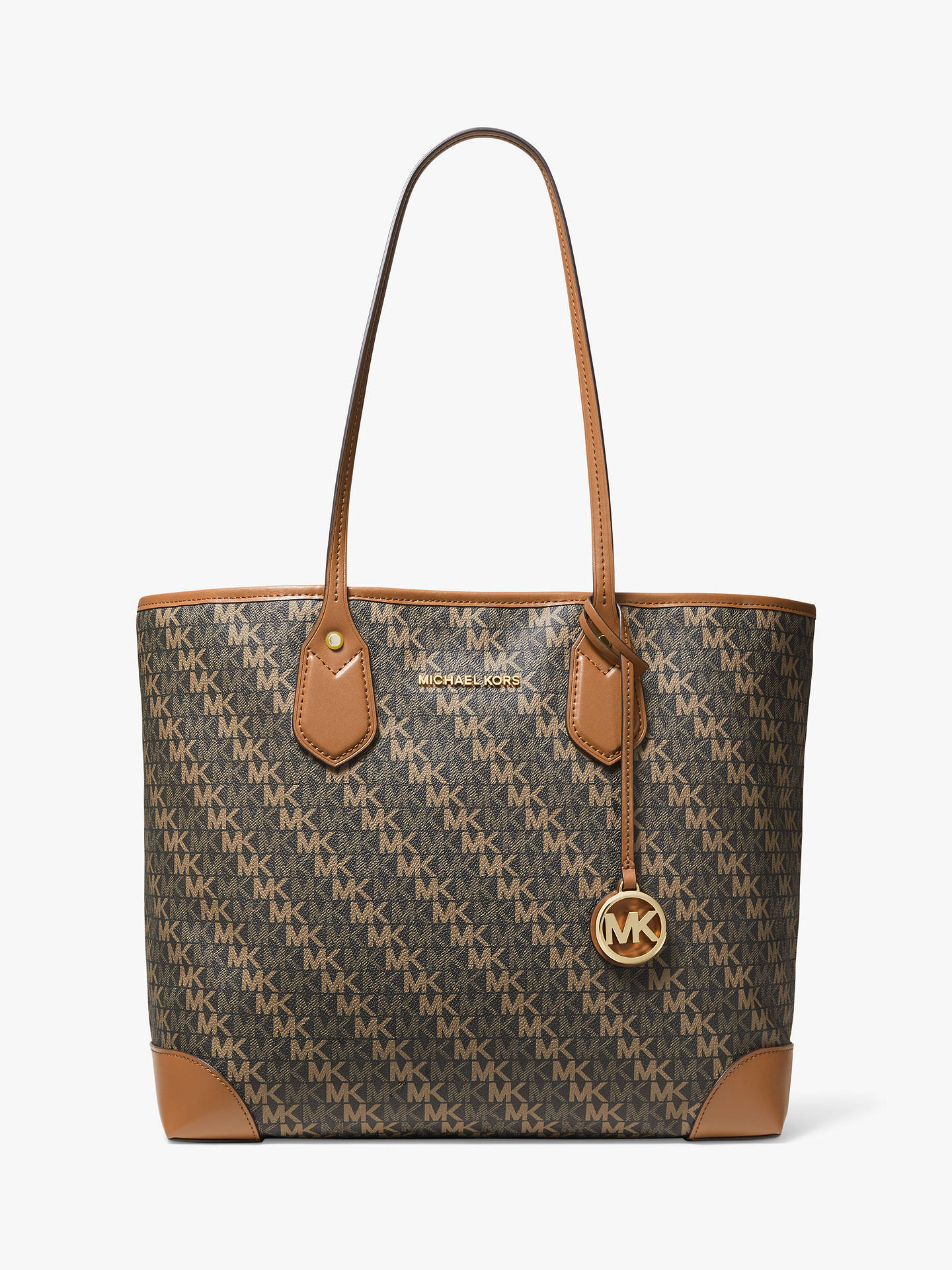 71b5800e9d82 Buy MICHAEL Michael Kors Eva Large Logo Tote Bag, Brown/Acorn Online at  johnlewis ...