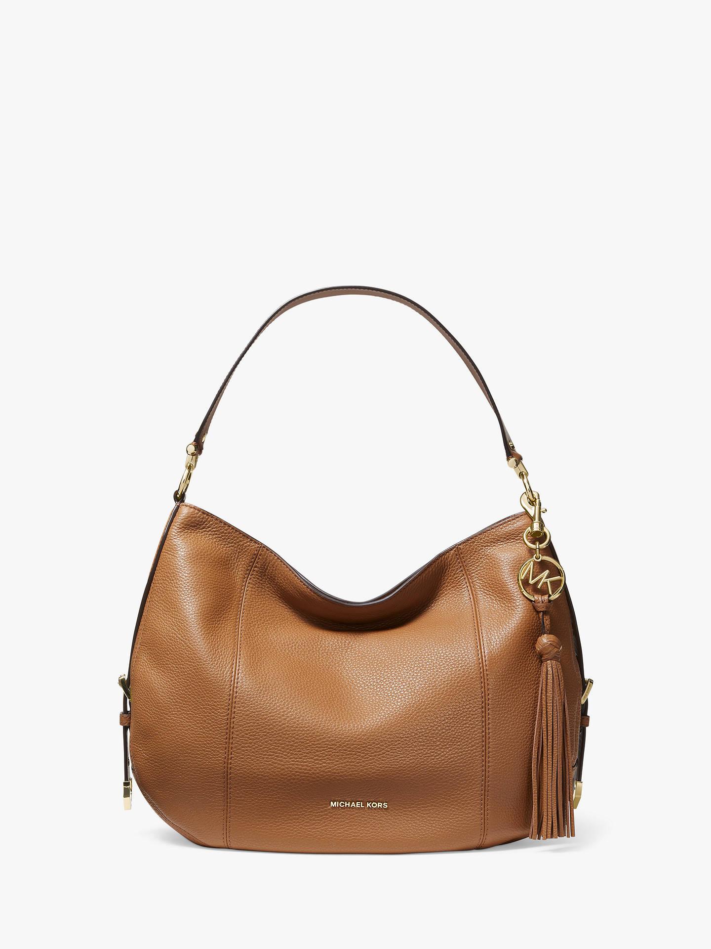 7eadd9dd9366 MICHAEL Michael Kors Brooke Large Leather Hobo Bag at John Lewis ...