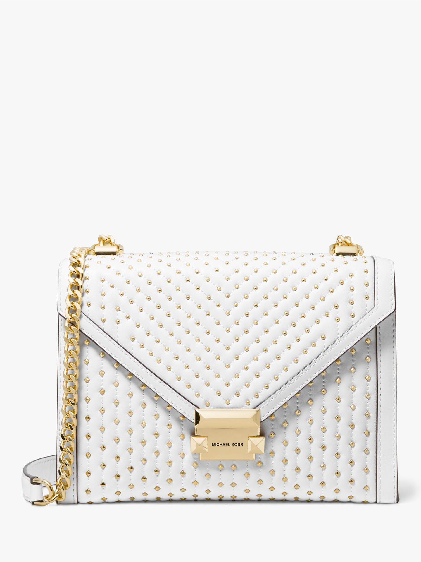 c3f3cd5b67a1 Buy MICHAEL Michael Kors Whitney Leather Stud Large Shoulder Bag