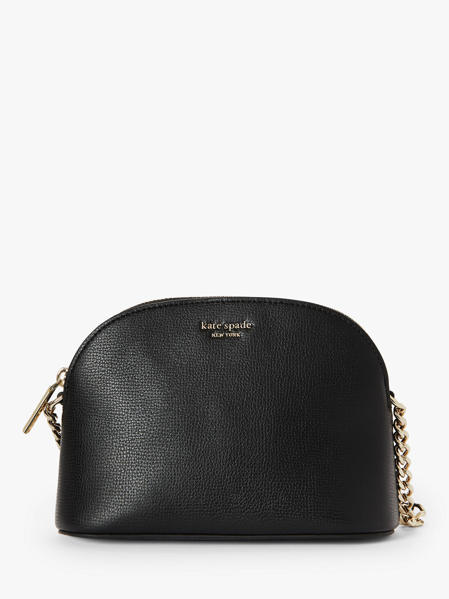 e4aa2b51206d Buy kate spade new york Sylvia Leather Small Dome Cross Body Bag, Black  Online at ...