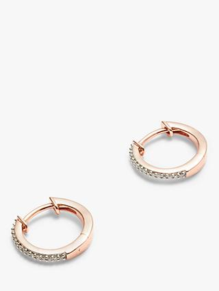 Modern Rarity Mini Diamond Hoop Earrings