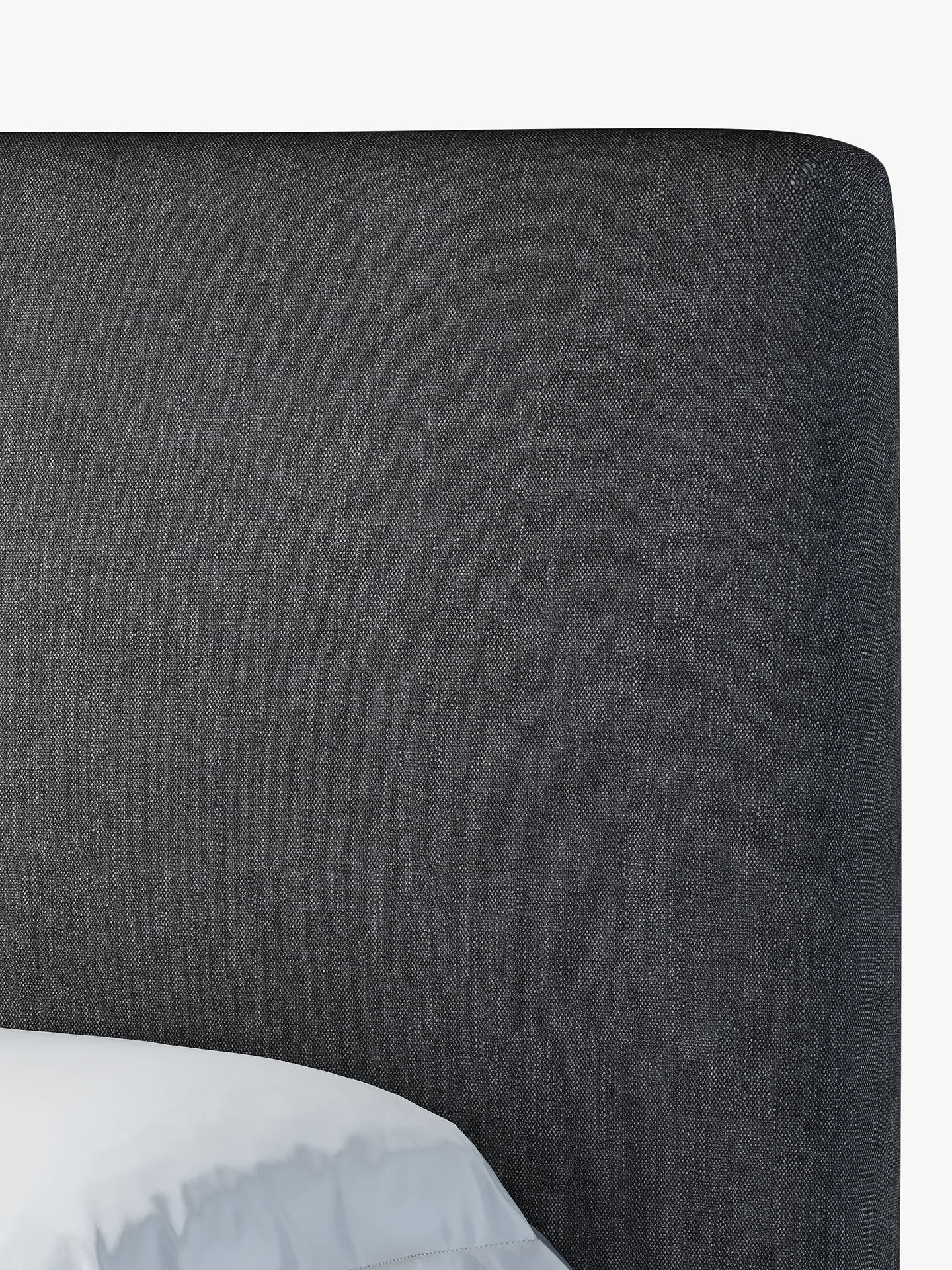 Buy John Lewis & Partners Emily Ottoman Storage Upholstered Bed Frame, Double, Erin Charcoal Online at johnlewis.com