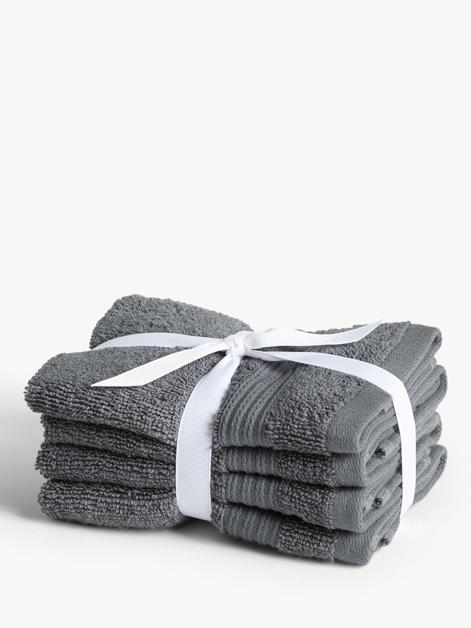 John Lewis & Partners Cotton Face Cloths, Pack of 4